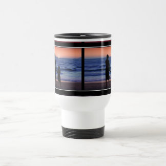 Mother & Daughter Walk on the Beach (Mother's Day) 15 Oz Stainless Steel Travel Mug