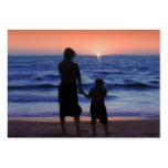Mother & Daughter Walk on the Beach (Mother's Day) Large Business Cards (Pack Of 100)