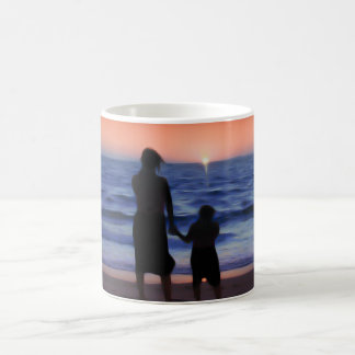 Mother & Daughter Walk on the Beach (Mother's Day) Classic White Coffee Mug
