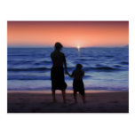 Mother & Daughter Walk on the Beach (Mother's Day) Postcard
