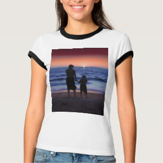 Mother & Daughter Walk on the Beach (Mother's Day) Tee Shirts