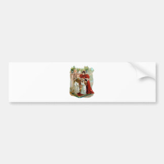 Mother & Daughters on the Night Before Christmas Bumper Sticker