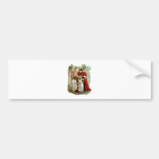 Mother & Daughters on the Night Before Christmas Bumper Stickers