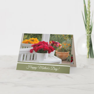 Mother Day Card with Beautiful Garden