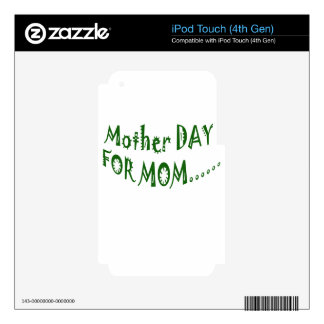 Mother Day For Mom beHappy together iPod Touch 4G Skin