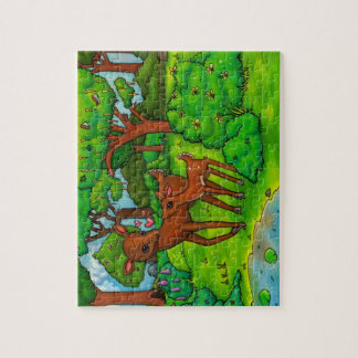 Mother deer and baby Fawn Jigsaw Puzzles