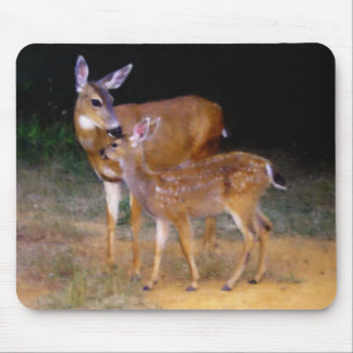 Mother Deer with Fawn Mousepad