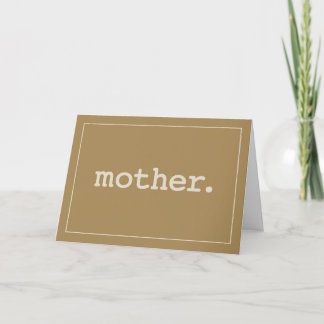 Mother Defined Simple Love on Mother's Day Card