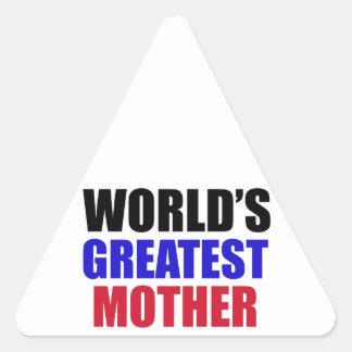 mother design triangle sticker