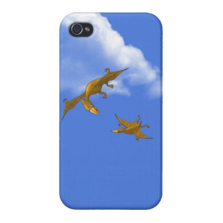 Mother Dinosaur giving flying lessons iPhone 4/4S Cover