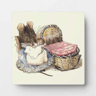 Mother Dormouse and her Child Plaque