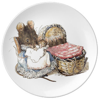 Mother Dormouse and her Child Porcelain Plate