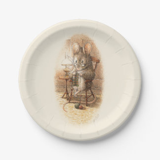 Mother Dormouse Knitting and Yarn Paper Plate