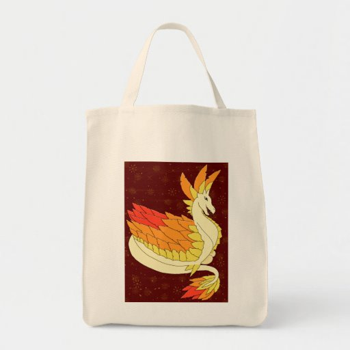 Mother Dragon Grocery Tote Bag