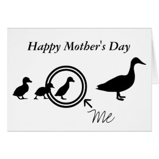 Mother Duck and Her Babies Card