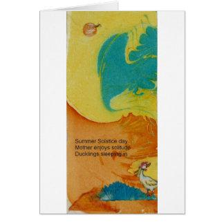 Mother Duck Haiku Greeting Card