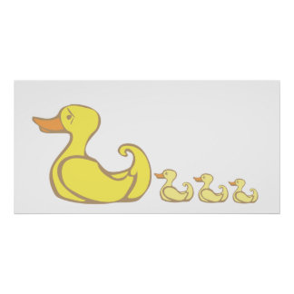 Mother duck poster