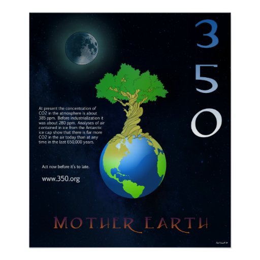 Mother Earth 350 Poster