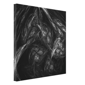 Mother Earth Abstract Art Black and White Canvas Print