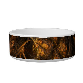Mother Earth Abstract Art Cat Bowl