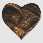 Mother Earth Abstract Art Heart Sticker