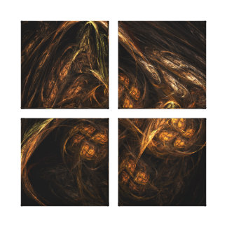 Mother Earth Abstract Art Quad Canvas Print