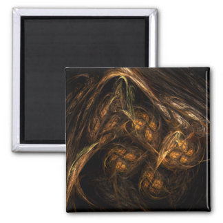 Mother Earth Abstract Art Square Magnet
