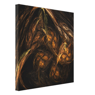 Mother Earth Abstract Art Wrapped Canvas Print