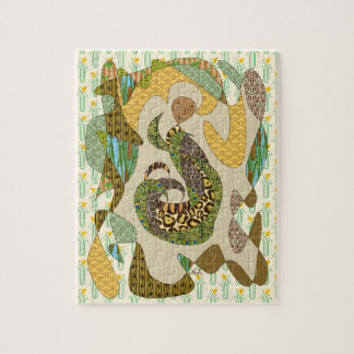 Mother Earth Abstract Illustration Animal Patterns Jigsaw Puzzle