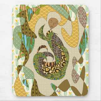 Mother Earth Abstract Illustration Animal Patterns Mouse Pad