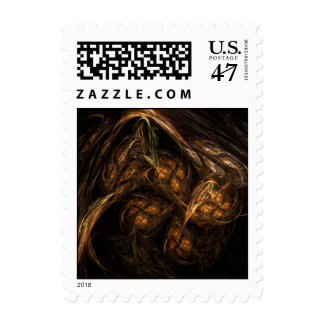 Mother Earth Abstract Postage Stamp