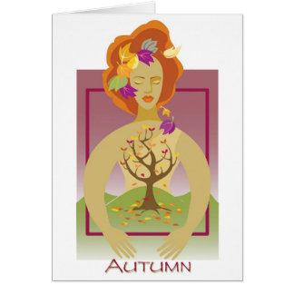 Mother Earth- Autumn Card