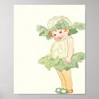 Mother Earth Children - Little Miss Cauliflower Poster
