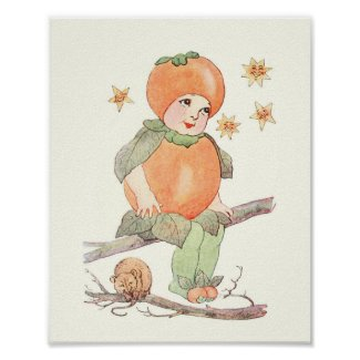 Mother Earth Children - Little Ms Persimmon Poster