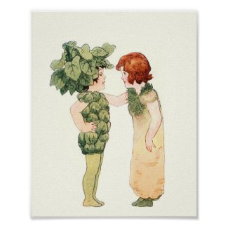 Mother Earth Children - Miss Brussels Sprout Poster