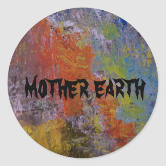 MOTHER EARTH CLASSIC ROUND STICKER