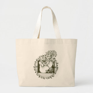 Mother Earth Collection in black and white Canvas Bags