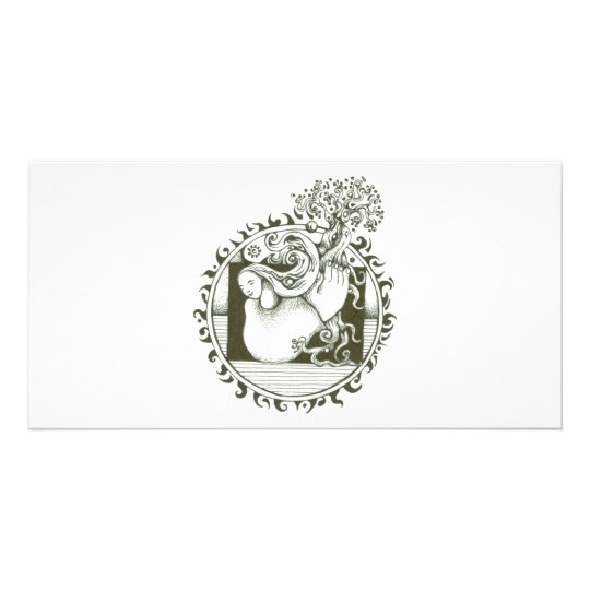 Mother Earth Collection in black and white Card