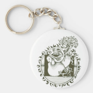 Mother Earth Collection in black and white Keychain