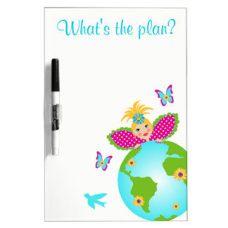 Mother Earth Fairy World Globe Travel White Board