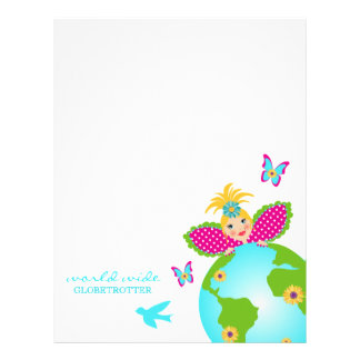 Mother Earth Fairy World Globe Trotter Traveler Letterhead