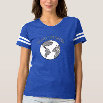 Mother Earth football shirt womens