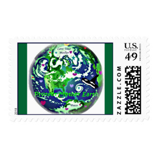 Mother Earth Global Peace postage stamp