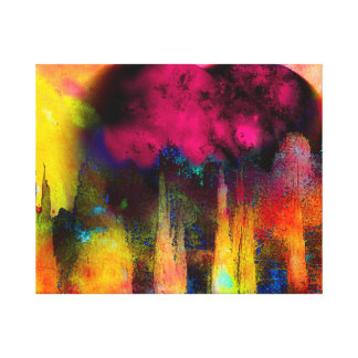 Mother earth in pink canvas print
