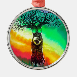 Mother Earth Metal Ornament