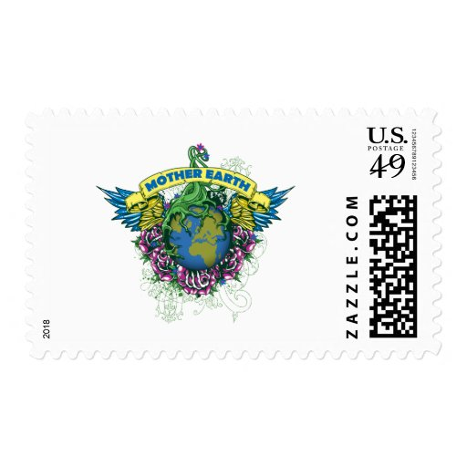 Mother Earth Postage Stamps