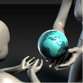 Mother Earth Providing To Her Children as Concept Cutout