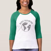 Mother Earth raglan tee womens