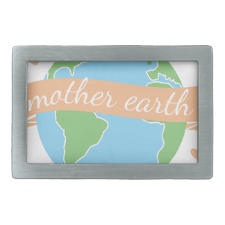 Mother Earth Rectangular Belt Buckle