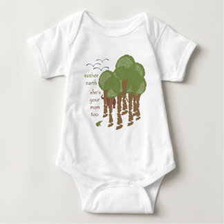 Mother Earth - She's your mom too Baby Bodysuit